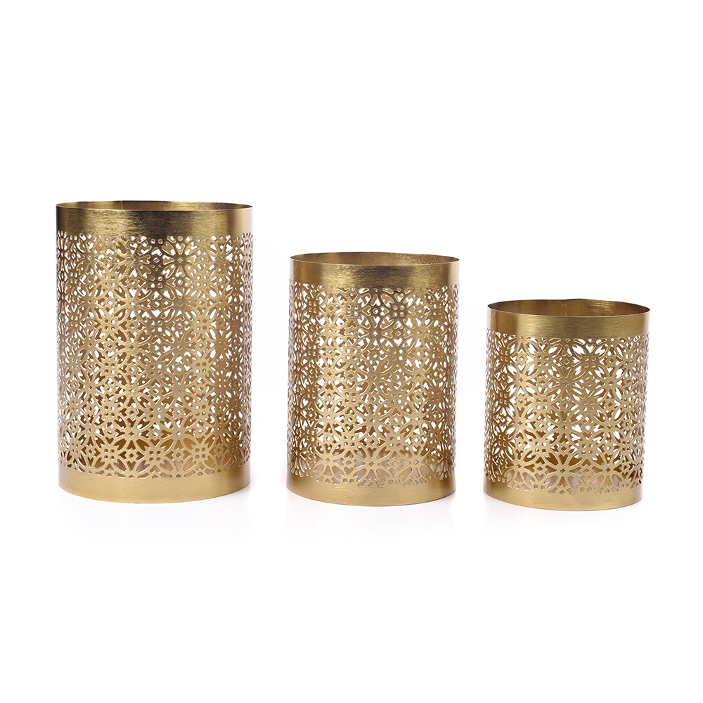 Moroccan Votives Candle Holder – S/3